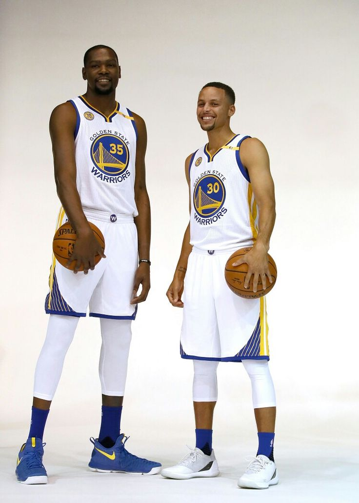 Stephen Curry and Kevin Durant #2016GSWMediaDay