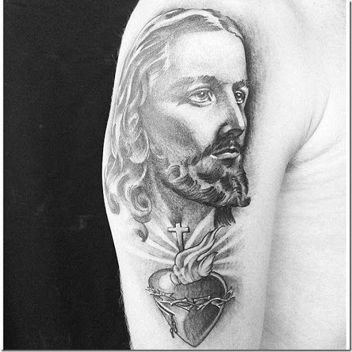 Jesús cristo, la cruz y el corazón