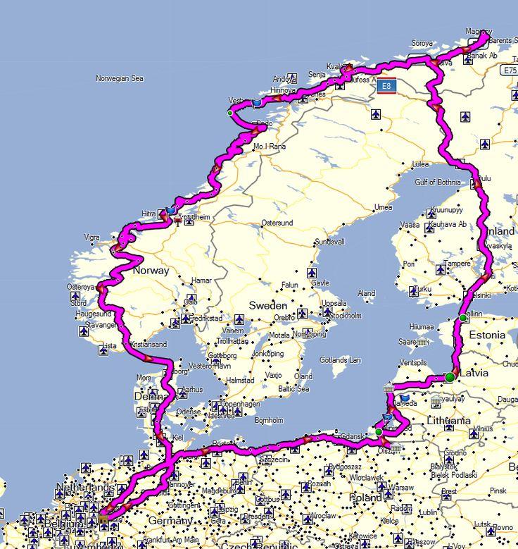 Route 2012 (09.02.2012) Die grobe Route 2012 Sie führt mich durch Deutschland nach Usedom an die Ostsee. Von da an fahre ich an der…