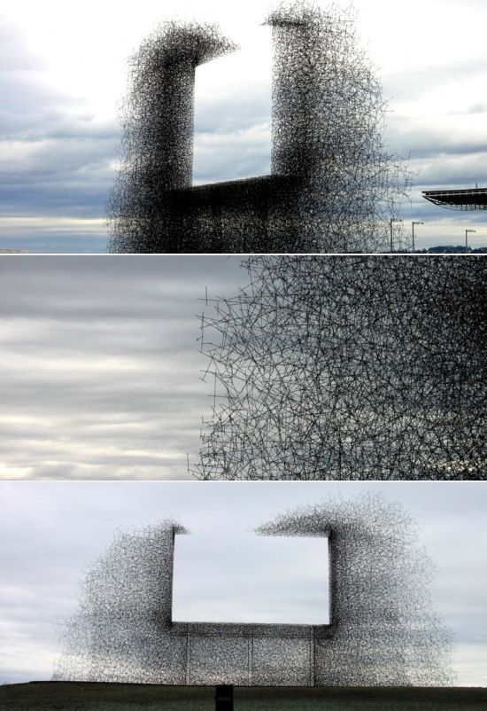 Non-sign - an installation piece by Lead Pencil Studio, located near the border between the U.S. and Canada.