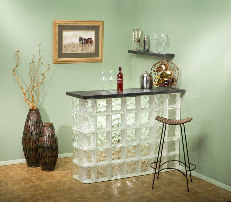 Very best 77 best GLASS BLOCK BARS images on Pinterest | Bar ideas, Glass  EZ84