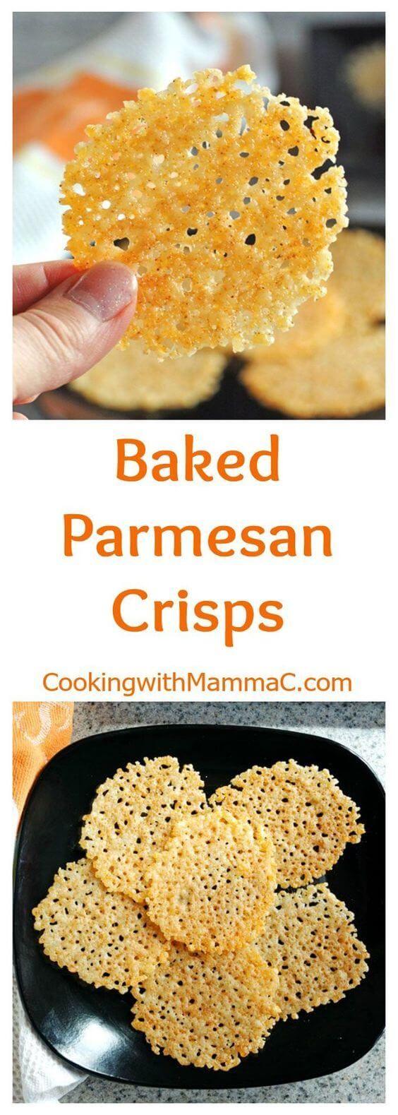 Quick & Easy Baked Parmesan Crisps Recipe