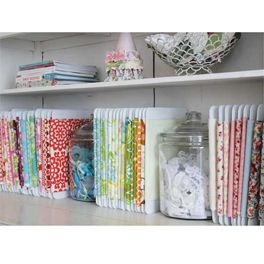 Convert your jumbled fabric stash into a well-ordered collection of mini-bolts -- you'll feel like you have a mini fabric store inside your house!
