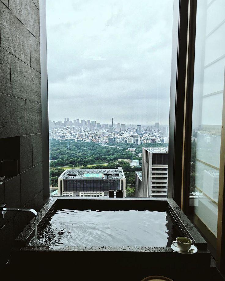 view from hotel bath in tokyo, japan. #wanderlust #japan