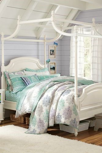 PB Teen Coraline Canopy Bed, $ 3,495, available at PB Teen.