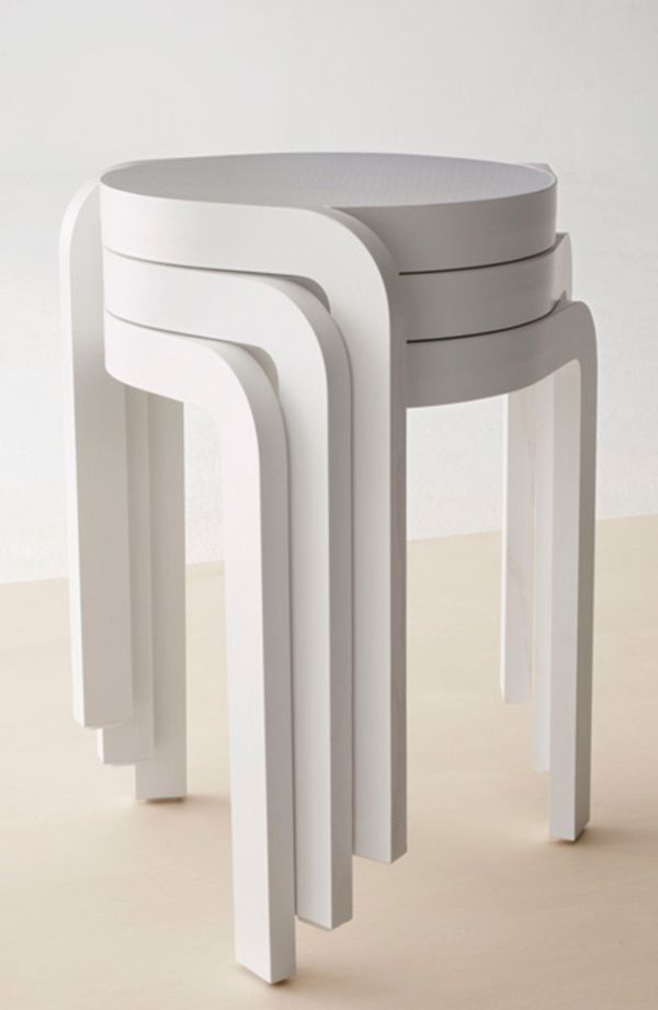 Swedish Designer Staffan Holm Has Created The Spin Stool For Swedish  Furniture Brand Swedese. It Is A Lightweight, Stackable Stool That Stacks  In A Spiral
