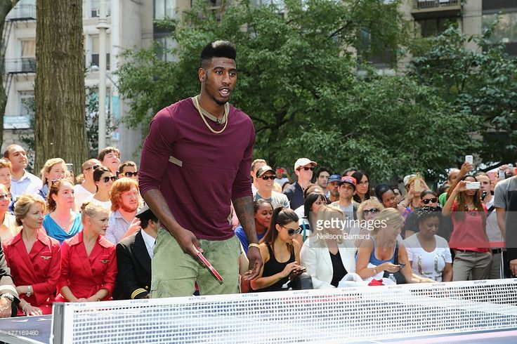 Delta Air Lines hosts the 'Delta Open' celebrity table tennis tournament with Serena Williams, New York Ranger Henrik Lundqvist, New York Knick Iman Shumpert, New York Yankee Brett Gardner and Mrs. Met at Madison Square Park on August 21, 2013 in New York City.