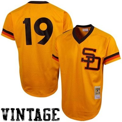 Mitchell & Ness Tony Gwynn San Diego Padres 1982 Authentic Throwback Mesh Batting Practice Jersey - Gold