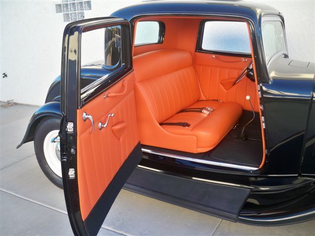 Dads 1932 Ford Coupe All Original Steel Custom Car Interior Hot Rods Cars Automotive Upholstery