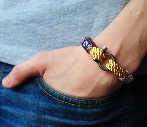 Fancy Yellow Rope Bracelet For Women's Fashionable Cord