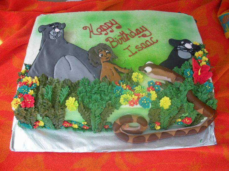 Disney Cake Decorating Book : 66 best Jungle Book Cakes images on Pinterest