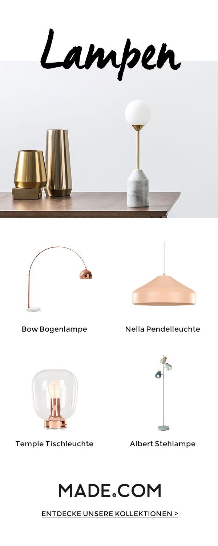 Und es werde Licht: Finde bei uns elegante Stehlampen, tolle Tischleuchten und Deckenlampen, die echte Highlights sind.