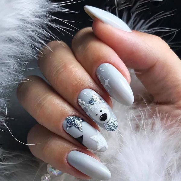 12 Stylish Christmas Nail Designs You Will Love Xmas Nails Christmas Gel Nails Cute Christmas Nails