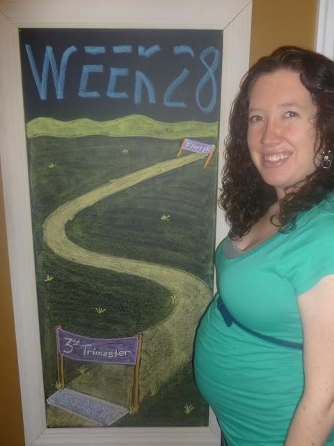 Week 28 Chalkboard Maternity Timeline