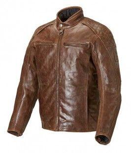 CHAQUETA DE MOTO  BARBOUR DE PIEL,  COLOR MARRÓN: La primera chaqueta de montar en moto hecha en colaboración Triumph / Barbour Internacional. Fabricada en cuero 100% de alta calidad. Esta chaqueta combina un suave cuero marrón con un estilo motero  vintage.
