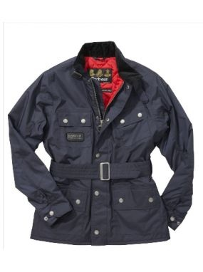 Barbour kids navy blue rainbow jacket