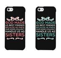 Cute BFF Phone Cases - God Made Us Best Friends A Pair Case Hard Case For Samsung Galaxy S4 S5 S6 S7,IPhone 4/4s,IPhone 5/5s/5c,IPhone SE,iPhone 6/6s Plus Phone Case