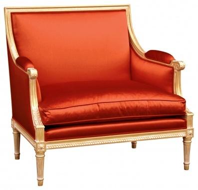 elegant orange chair: Chairs Fabrics, Dink Pinkorang, Burnt Orange, Dink Pink Orange, Beautiful Furniture, Orange Chairs, Bright Colors, Tangerine Satin, Satin Chairs