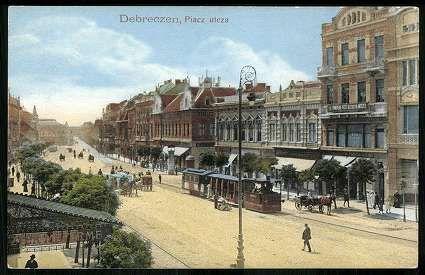 Debrecen Piac utca   Képeslapok   Hungaricana