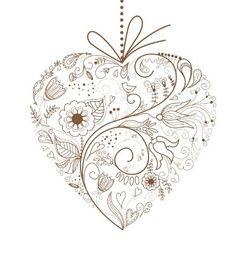 Trouwkaart met hart gemaakt van getekende bruine bloemen. Kies de kaart, pas de tekst aan en vraag een gratis proefdruk op (je betaalt zelfs geen verzendkosten!). http://www.trouwpost.nl/trouwkaarten/hartjes/