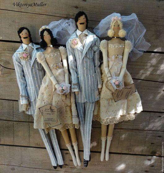кукла тильда купить тильда кукла в подарок свадьба винтаж винтажный стиль оригинальный подарок на свадьбу свадебные куклы свадебный декор подарок на годовщину свадьбы