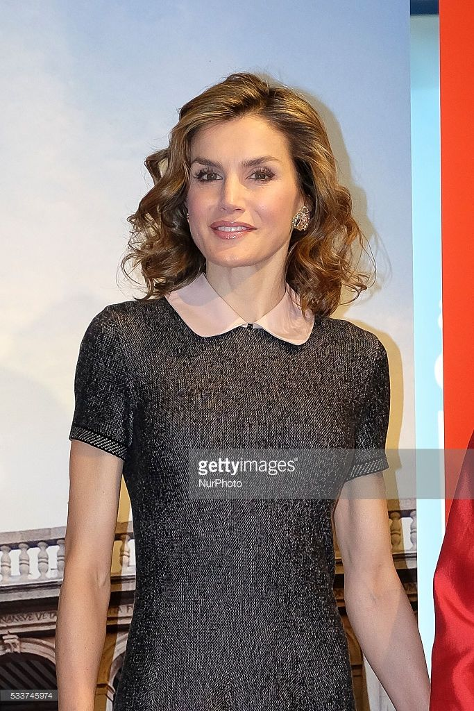 Queen Letizia of Spain attends exhibition at the Colegio de Arquitectos on May 23, 2016 in Madrid, Spain.