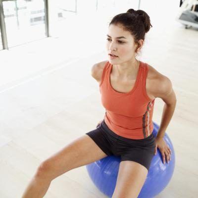 Horseback Riding & Balance Ball Exercises
