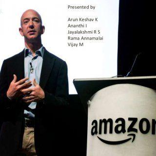 Presented by Arun Keshav K Ananthi I Jayalakshmi R S Rama Annamalai Vijay M   About Amazon… • • • • Amazon Inc is an American international e-commerce com. http://slidehot.com/resources/case-study-on-amazon.18858/