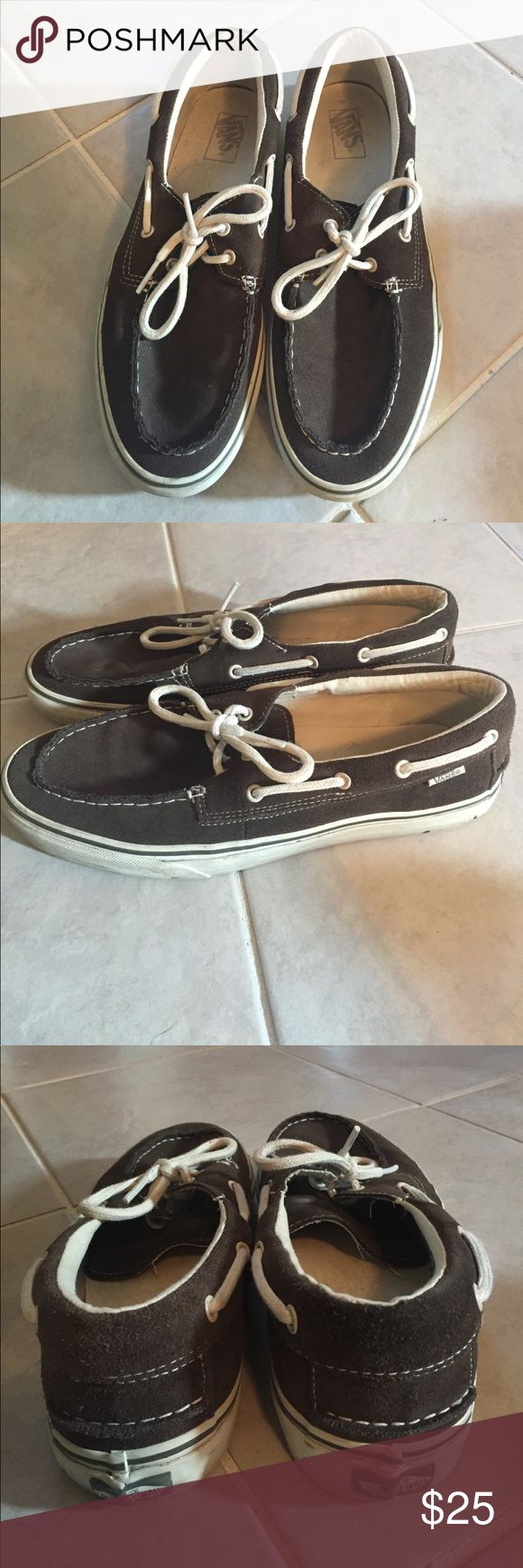 Vans Boat shoes Men's boat shoes by Vans. Casual and comfortable. Color matches with several outfits! Vans Shoes Boat Shoes
