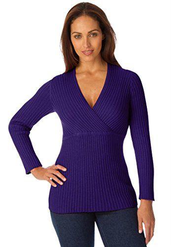 Jessica London Women's Plus Size Cotton Sweater With Surplice Front Deep Jessica London http://www.amazon.com/dp/B00ND7VEWA/ref=cm_sw_r_pi_dp_ltujub0D8ZVY4