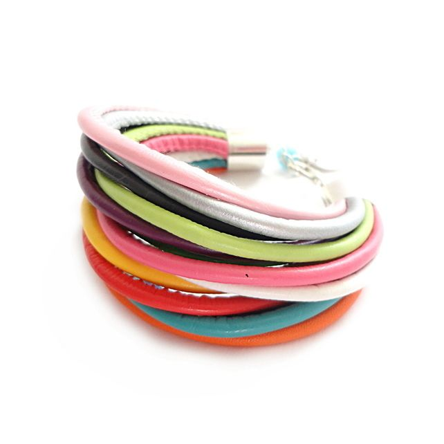 Multicolor Rainbow Faux Leather Straps Bracelet £15.00