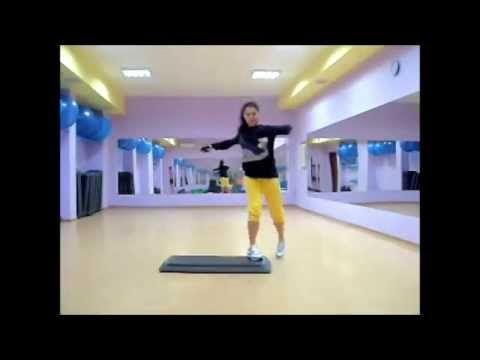 Step aerobic 2 Step Dance степ аэробика разучивание (связка по степ аеробике) - YouTube