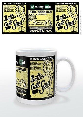 Este modelo de taza de cerámica de alta calidad de la serie Breaking Bad incluye en su diseño vintage el mensaje Better Call Saul! o ¡Mejor llama a Saul! Seguro que te encantaría tomar tu café todos los días en esta fantástica taza. ¡Date prisa y consíguela ya!Capacidad: 0.33 litros.Presentación: caja de cartón.Fabricante: Jazwire.Fabricación: cerámica.Peso: 400 g.