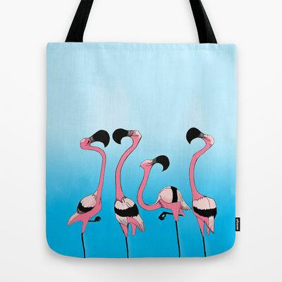 """""""Flamingos"""" Tote Bag - $22.00 (Also available as a phone case, ipad case, or art print!)"""