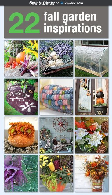 Sow & Dipity shares 22 autumn garden projects. From planting bulbs to crafting fall wreaths, you're sure to be inspired.