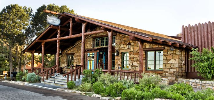Bright Angel Lodge is a hotel complex at the South Rim of the Grand Canyon in Grand Canyon National Park, Arizona. Designed by architect Mary Jane Colter, the lodge is a complex of cabins around a central lodge building, directly on the edge of the canyon. The rustic lodge complex is a major contributing structure in the Grand Canyon Village National Historic Landmark District.HistoryThe first accommodation at the location was established by James Thurber in 1896 at the head of the Bright…