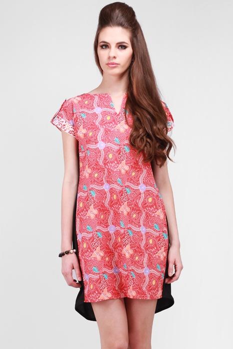 Teabag Epaulet Batik Dress
