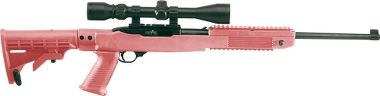 pink assault rifle. yes.