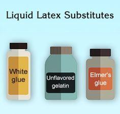 Liquid latex substitutes