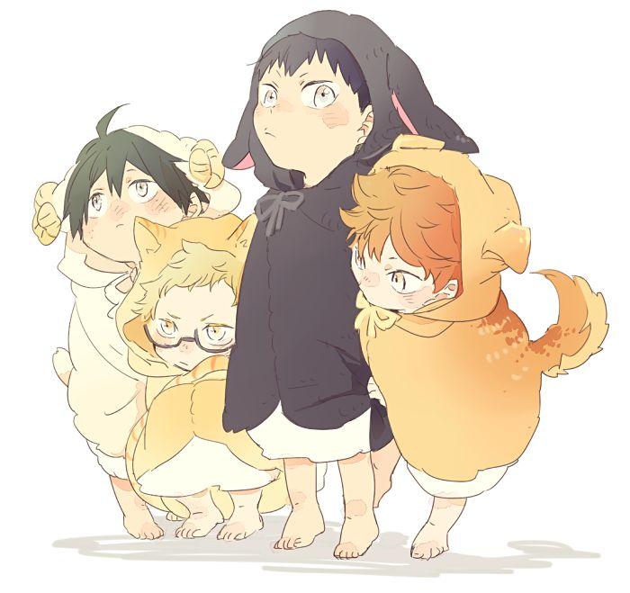 Haikyuu!! - Yamaguchi, Tsukishima, Kageyama & Hinata