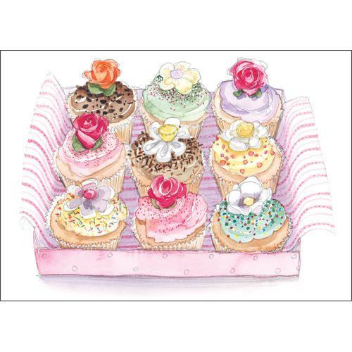 Cupcakes anyone? greeting card GM01 - buy online $3.60
