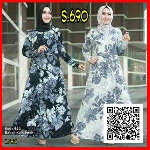 Jual Baju Gamis Muslim Maxi Modern s690
