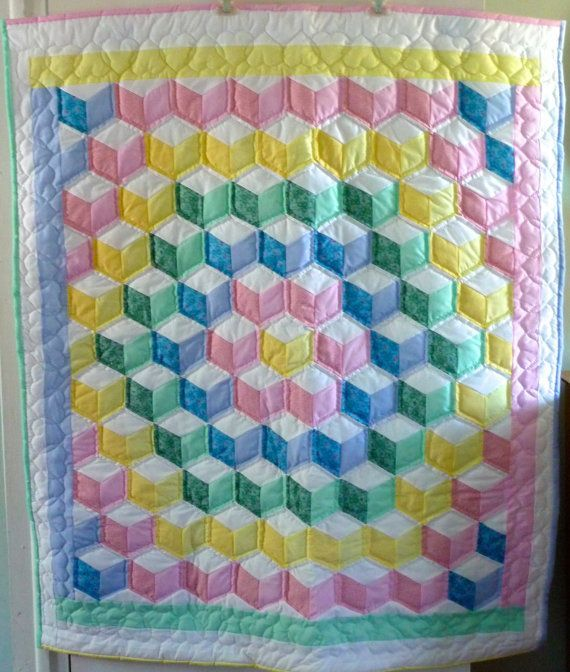 13 best Tumbling block quilts images on Pinterest | Block quilt ... : baby block quilt - Adamdwight.com