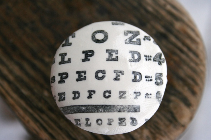 Handstamped Eye Chart Knob | $7.00: 7 00, Charts Knobs, Etsy, Dresser Knobs, Eyes Charts, Eyes Styles, Eyes Accessories, Handstamp Eyes, Dressers Knobs