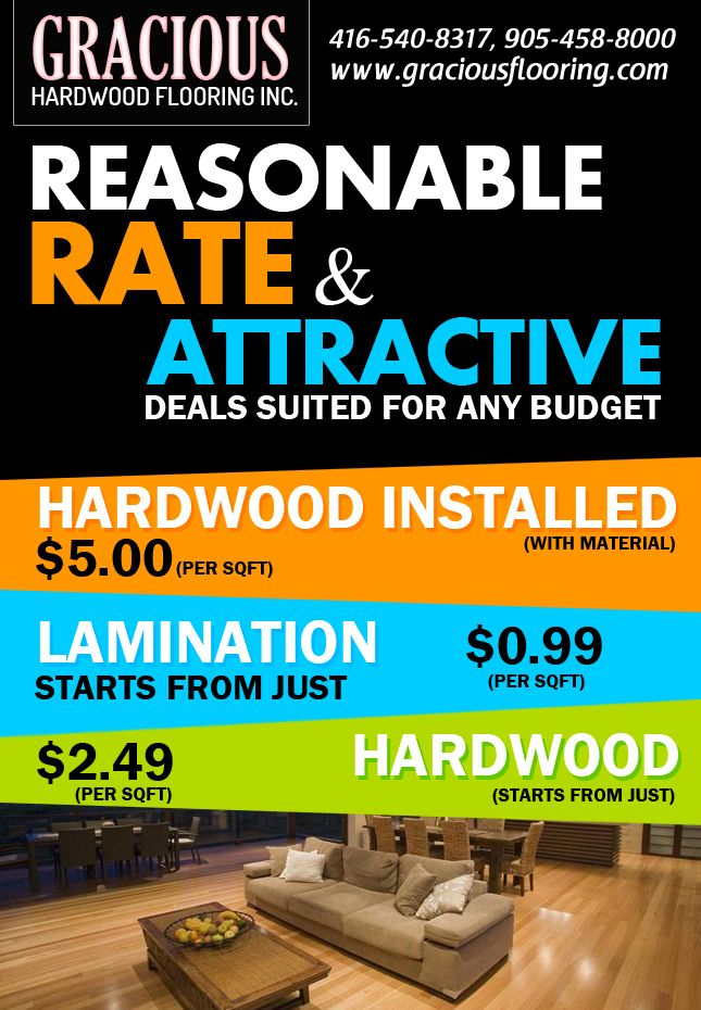 Reasonable hardwood flooring rates & attractive deals suited for any budget..!!