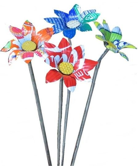 Recycled Daisies   Recycled Crafts   Scoop.it