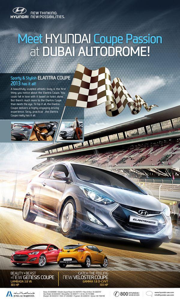 Hyundai Elantra Coupe by Icon Advertising & Design FZ LLC, via Behance