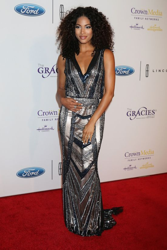 Actress Lex Scott Davis stuck to the silver trend at the 41st Annual Gracie Awards Gala held at the Beverly Wilshire Four Seasons Hotel.