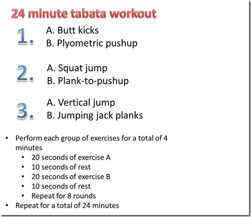 tabata workouts at home - Google Search