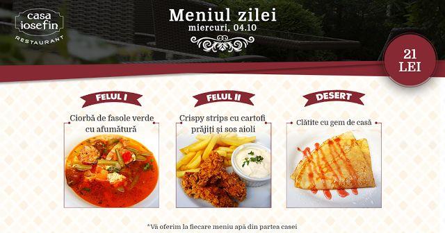 Restaurant Casa Iosefin Timisoara: Meniu Zilei 04.10